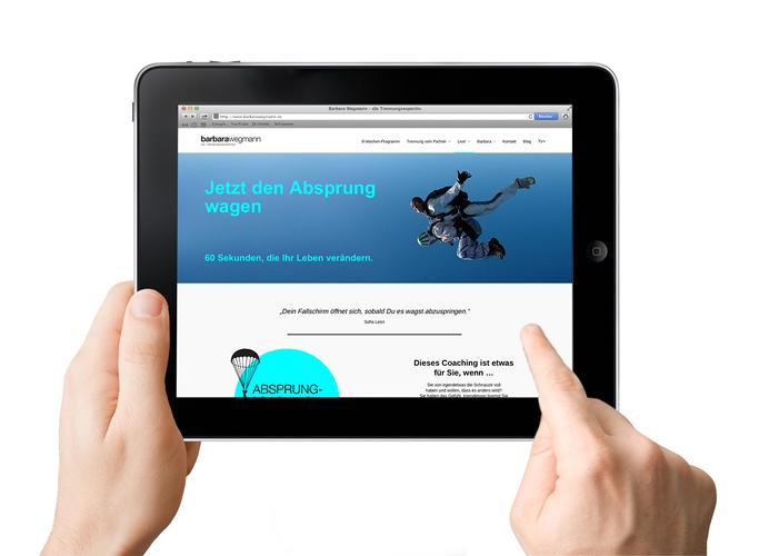 ondesign entwickelt für Barbara Wegmann Lösungen für Mobile Devices