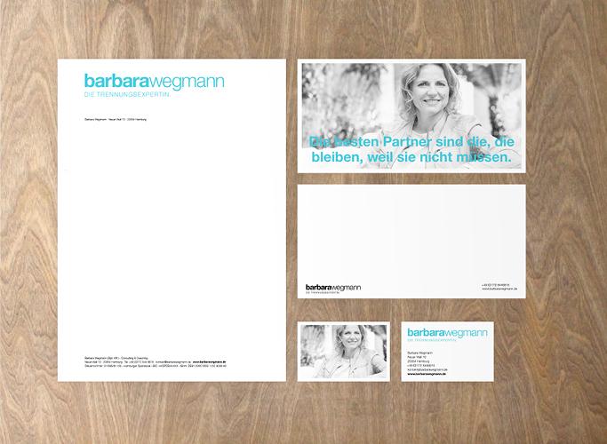 Auch im Printbereich setzt Barbara Wegmann auf cleanes Design