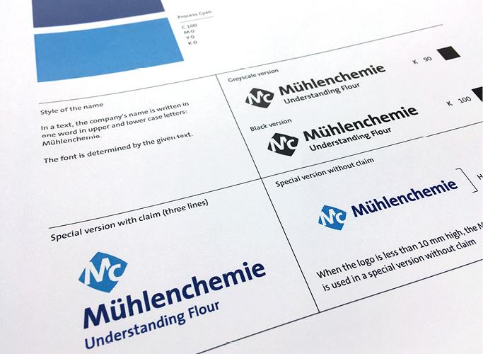Bild-Ausschnitt aus dem neuen Design-Manual für Mühlenchemie