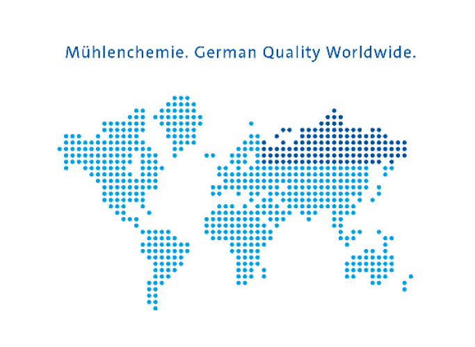 Weltkarte Infografik für Mühlenchemie