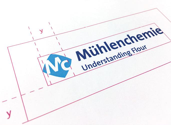 Entwicklung des Rasters und der Maße für die Anwendung des neuen Logos