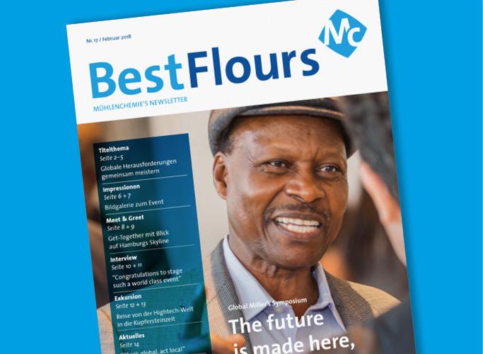 ondesign konzeptioniert und realisiert Editorial Design für den Mühlenchemie-Print-Newsletter BestFlours im neuen Corporate Design