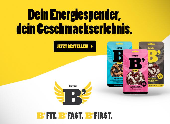 Berryline im Werbebanner Design