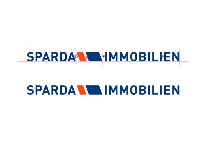 Das Logo für die Sparda Immobilien im horizontalen Design