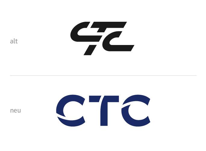 ondesign realisiert für das AIRBUS-Tochterunternehmen CTC eine neue Corporate Identity - neues Logo und altes Logo