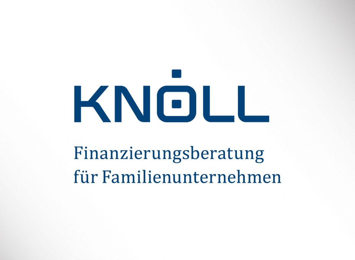 Logo und Claim des Finanzberatungsunternehmens Knöll