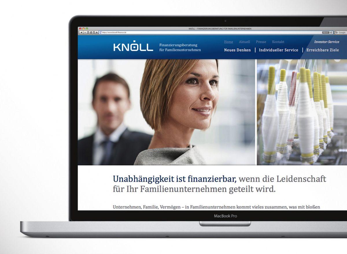 Das Webdesign des neuen Corporate Designs von Knöll