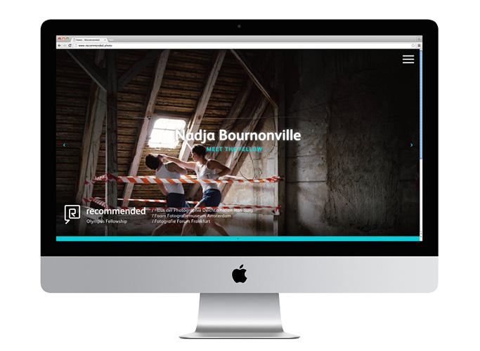 Das Webdesign für Olympus in der Full Screen Ansicht
