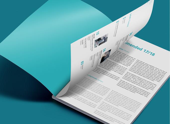 ondesign realisiert für recommended Fellowship Editorial Design des Ausstellungskatalogs - Inhaltsverzeichnis