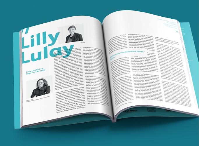 ondesign realisiert für recommended Fellowship Editorial Design des Ausstellungskatalogs - Innenseite Lilly Lulay