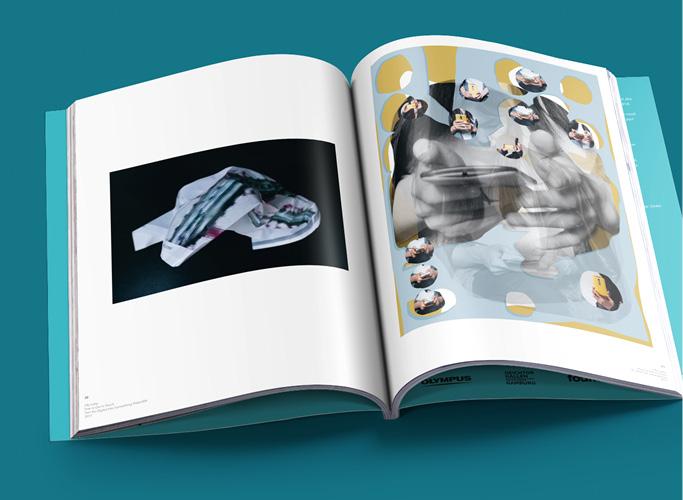 ondesign realisiert für recommended Fellowship Editorial Design des Ausstellungskatalogs - Doppelseite mit Bildern