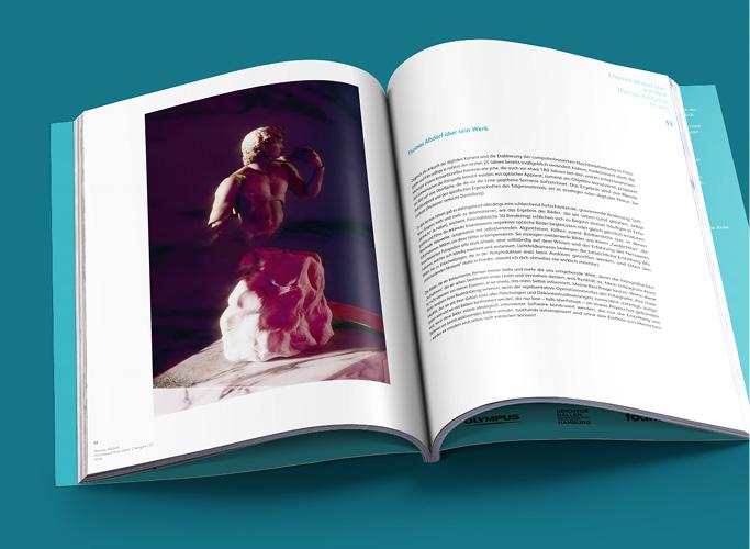 ondesign realisiert für recommended Fellowship Editorial Design des Ausstellungskatalogs - Innenseite mit Bild und Text