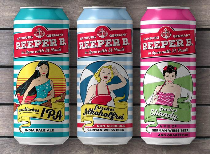 ondesign erstellt Packaging für Biermarke Reeper B. - 3 Sorten