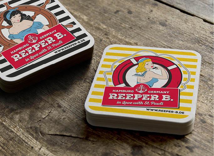 ondesign erstellt Packaging für Biermarke Reeper B. - Bierdeckel im Reeper B. Look