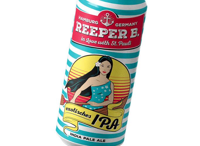ondesign erstellt Packaging für Biermarke Reeper B. - Sorte exotisches IPA