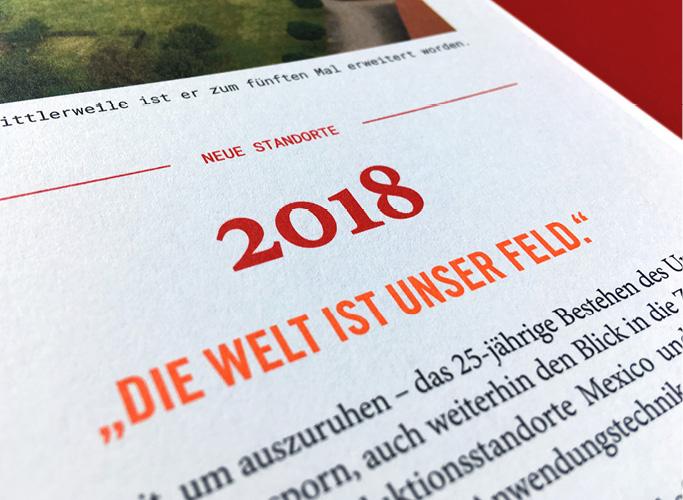 ondesign erstellt für Hydrosol eine Jubiläumsfestschrift - Typographie im Detail