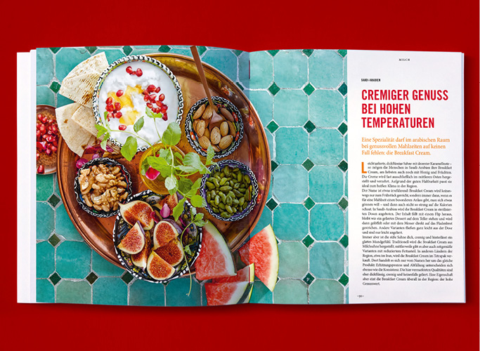 Inside of the jubilee booklet with Arabic dish