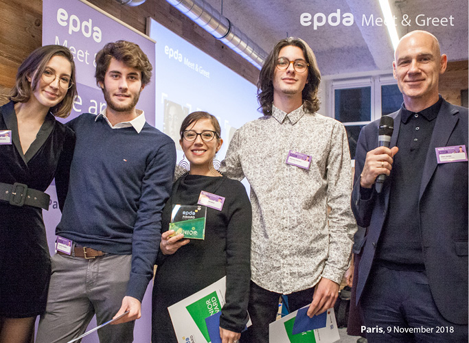 Olav Juenke and the winners of the epda Award 2018
