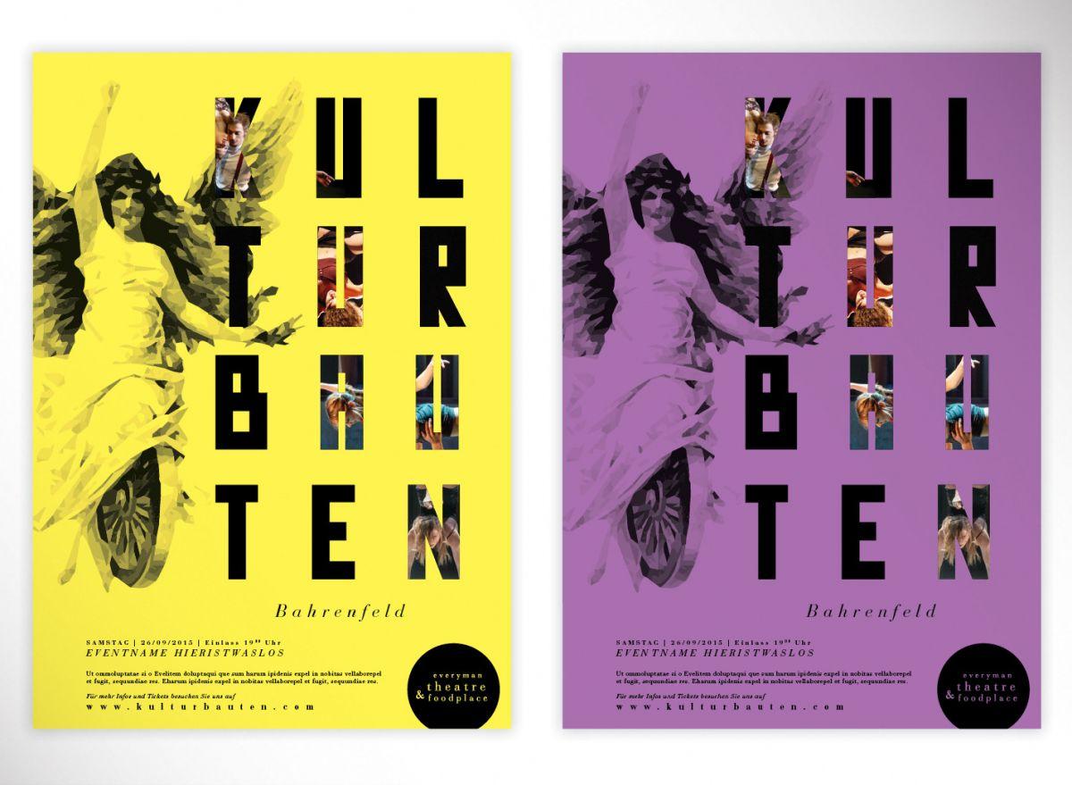 Das neu entwickelte Design der Kulturbauten Bahrenfeld im Plakatformat