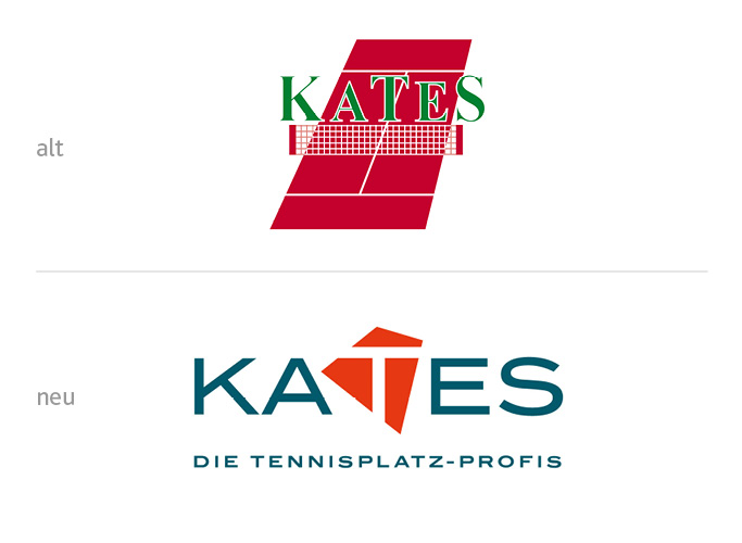 The old and the new Kates logo in comparison