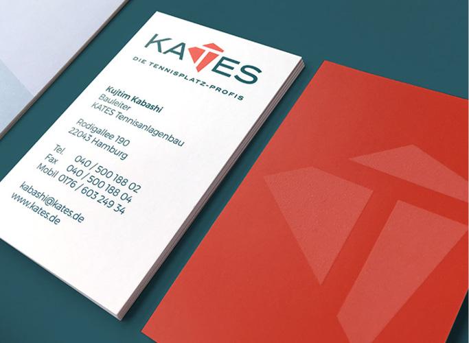 Kates Tennisplatz-Profis Visitenkarten mit Sandpapier-Veredelung