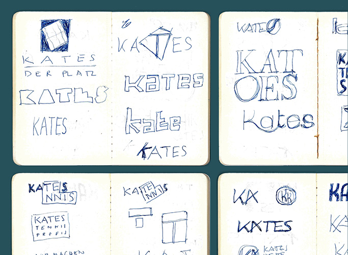 The first scribbles for the new Kates logo