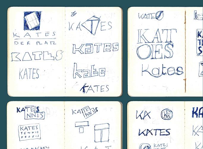 Die ersten Scribbles für das neue Kates Logo