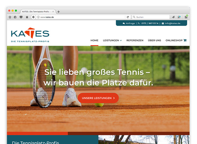ondesign develops the corporate website for Kates