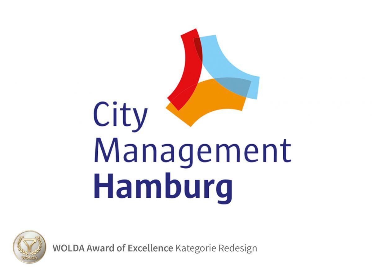 Das Redesign des City Management Hamburg Logos erhält den WOLDA Award