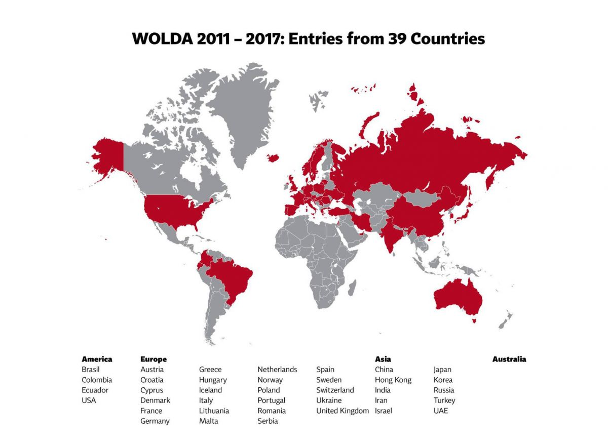 WOLDA Awards: Entries from 39 countries